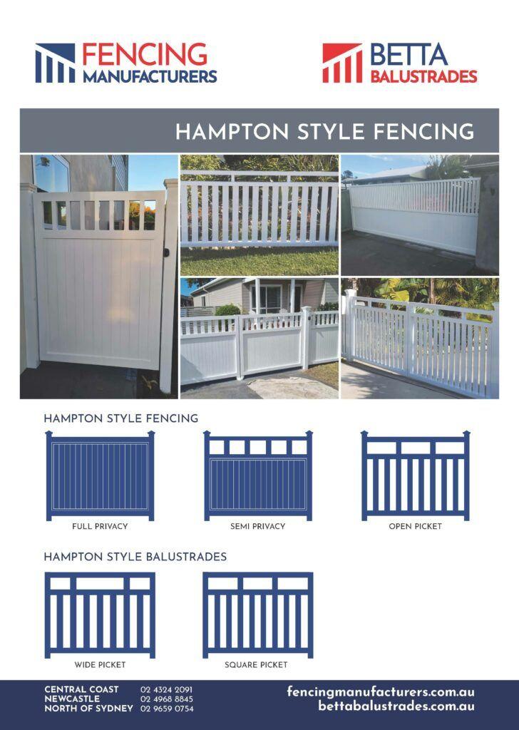 Hampton Style Fencing